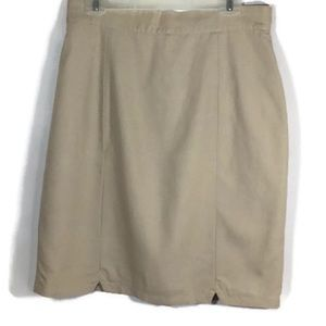 3/$20 Apart Beige Lined Pencil Skirt Size 16